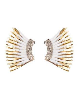 Mignonne Gavigan Mini Madeline Statement Earrings, White/Golden