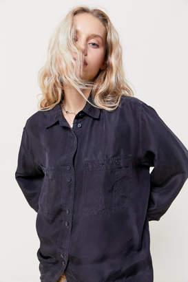 Urban Renewal Vintage Silky Button-Down Blouse