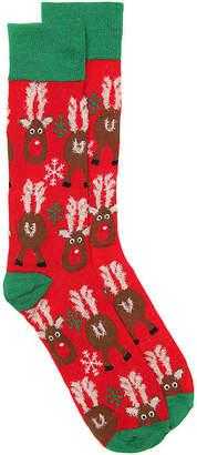 Reer High Point Design Reindeer Crew Socks - Men's