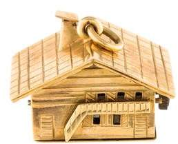 18K House Music Box Pendant