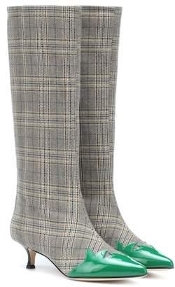Tibi Evin plaid boots