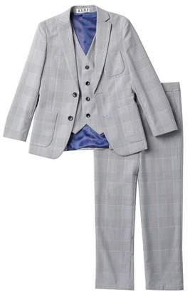 Isaac Mizrahi Single Breasted 2-Button 3-Piece Plaid Suit (Toddler, Little Boys, & Big Boys)