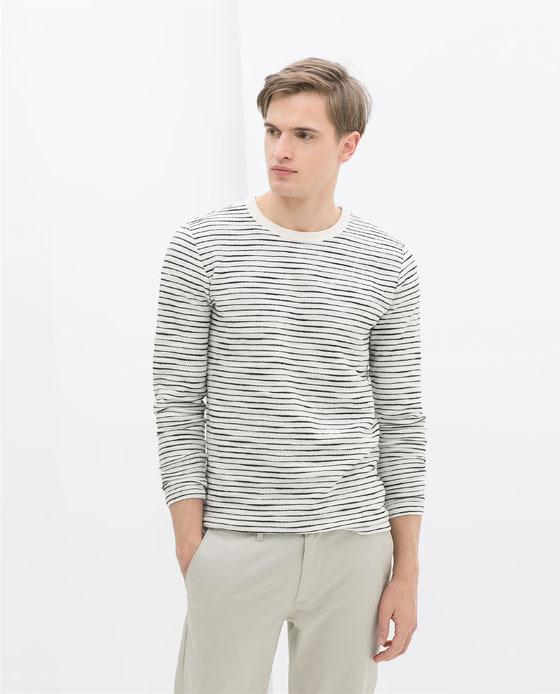 Zara Stripe Sweatshirt