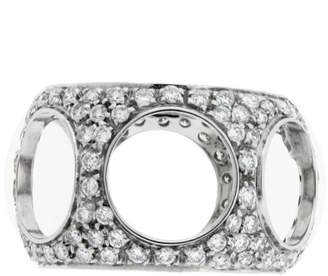 Damiani 18K White Gold & 1.70ctw. Diamond Ring Size 7.5