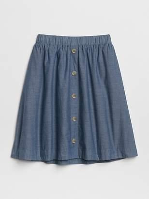 Gap Chambray Flippy Skirt