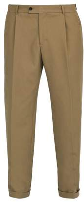 BEIGE Ribeyron - Cotton Gabardine Trousers - Mens