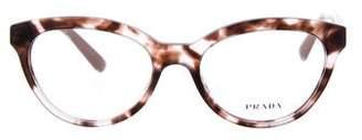 Prada Tortoiseshell Round Eyeglasses