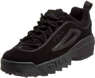 Fila Men's Disruptor II Sneaker,Black/White/Red Fabric, US