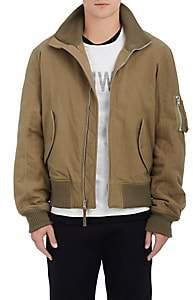 Helmut Lang RE-EDITION Men's Cotton Flannel Bomber Jacket - Olive