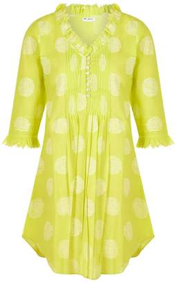 At Last... - Annabel Cotton Tunic Neon Lime