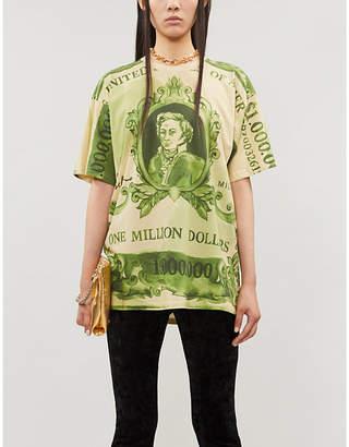 Moschino Money-print cotton-jersey T-shirt