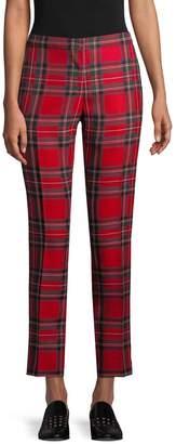Burberry Women's Tartan Cropped Trousers