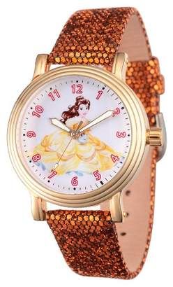 Disney Women's Princess Belle Gold Vintage Alloy Watch - Gold