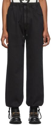 Gucci Black Washed Cotton Jogging Jeans