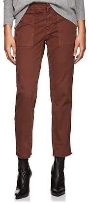 Nili Lotan Women's Jenna Cotton Twill Slim Boyfriend Pants