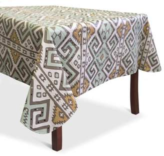 """Lintex Home Aztec Print Heavyweight Vinyl Tablecloth With Soft Flannel Backing 60"""" x 84"""""""