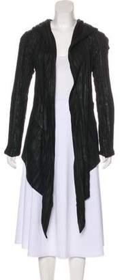 Gareth Pugh Leather-Blend Textured Coat
