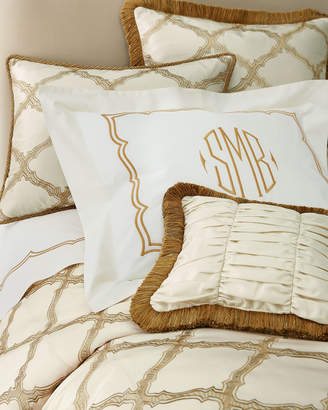 Matouk King Versailles Embroidered-Frame Sham