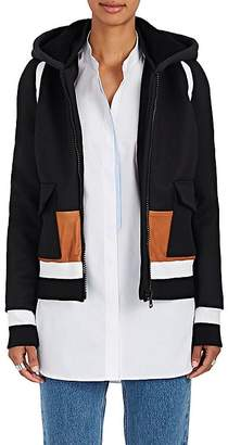 Tim Coppens Women's Leather-Trimmed Wool Bomber Coat