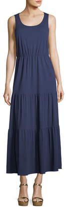 Joan Vass Tiered Long Tank Dress, Petite