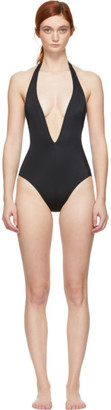Solid and Striped Black Willow One-Piece Swimsuit