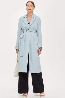 Topshop Plisse Robe Duster Coat