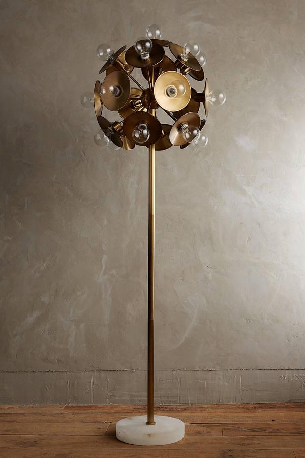 AnthropologieAnthropologie Metallic Bloom Floor Lamp