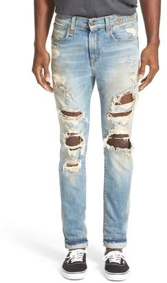 R 13 Skate Destroyed Jeans