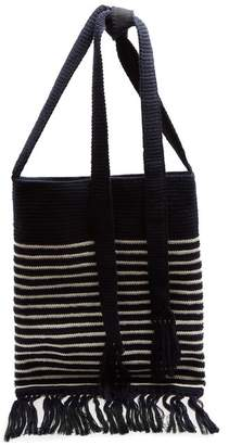J.W.Anderson Breton Stripe Intarsia Bag - Womens - Navy Stripe