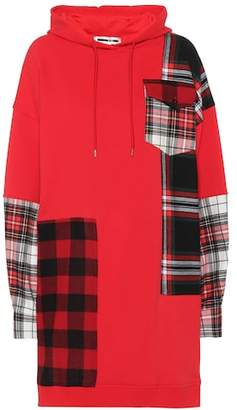 McQ Plaid patch cotton hoodie