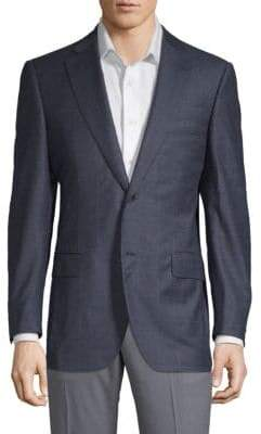 Caruso Windowpane Wool Jacket