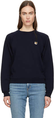 MAISON KITSUNÉ Navy Fox Head Patch Sweatshirt