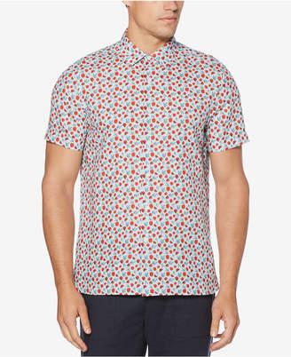 Perry Ellis Men Printed Linen Shirt