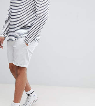 Asos Design DESIGN Plus Slim Chino Shorts In Ice Grey