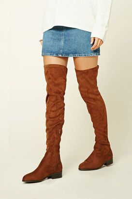FOREVER 21+ Faux Suede Over-The-Knee Boots $39.90 thestylecure.com