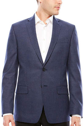 Claiborne Slim Fit Woven Checked Sport Coat