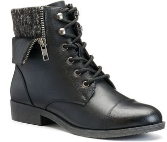 Mudd® Women's Sweater-Cuff Ankle Boots $69.99 thestylecure.com