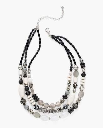 Chico's Chicos Short Black and White Multi-Strand Necklace