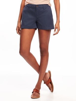 "Mid-Rise Everyday Khaki Shorts for Women (3 1/2"") $22.94 thestylecure.com"