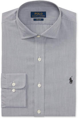Polo Ralph Lauren Men's Classic/Regular Fit Easy-Care Micro-Stripe Dress Shirt