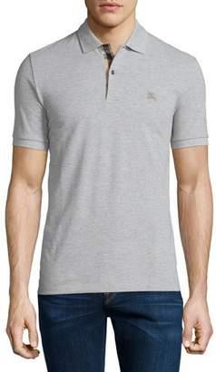Burberry Short-Sleeve Pique Polo Shirt, Pale Gray $175 thestylecure.com