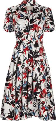 Jason Wu Printed Poplin Short Sleeve Dress