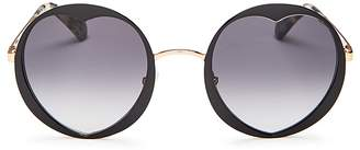 Kate Spade Rosaria Round Heart Sunglasses, 53mm