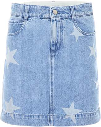 Stella McCartney Denim Skirt With Stars