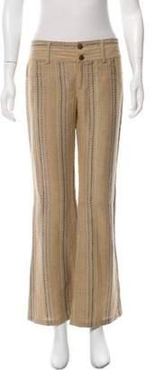 Alice + Olivia Linen Mid-Rise Wide-Leg Pants