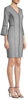 Elie Tahari Laurie Piped Sheath Dress