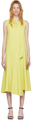 Tibi Yellow Chalky Drape Trapeze Dress