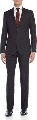 English Laundry Two-Piece Black Pindot Windowpane Suit