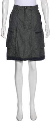 Marithé + François Girbaud Knee-Length Denim Skirt