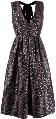 Marco De Vincenzo fern printed dress